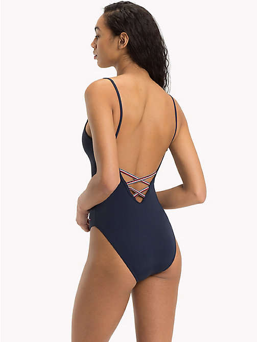 TOMMY HILFIGER Logo One-Piece Swimsuit - NAVY BLAZER - TOMMY HILFIGER Swimsuits - detail image 1