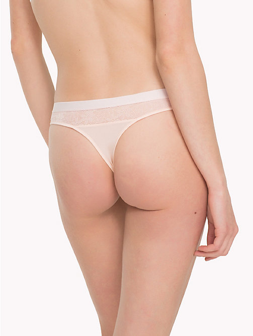 TOMMY HILFIGER Floral Mesh Thong - PALE PINK - TOMMY HILFIGER Underwear & Swimwear - detail image 1