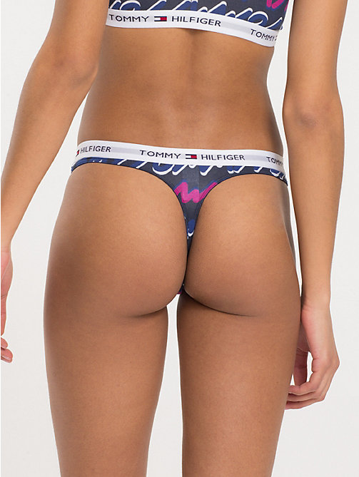 TOMMY HILFIGER Tommy Lettering Thong - SODALITE BLUE - TOMMY HILFIGER Briefs - detail image 1