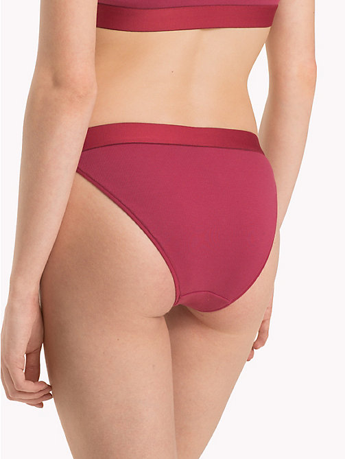 TOMMY HILFIGER Rib-Knit Bikini Knickers - EARTH RED - TOMMY HILFIGER Lounge & Lingerie - detail image 1