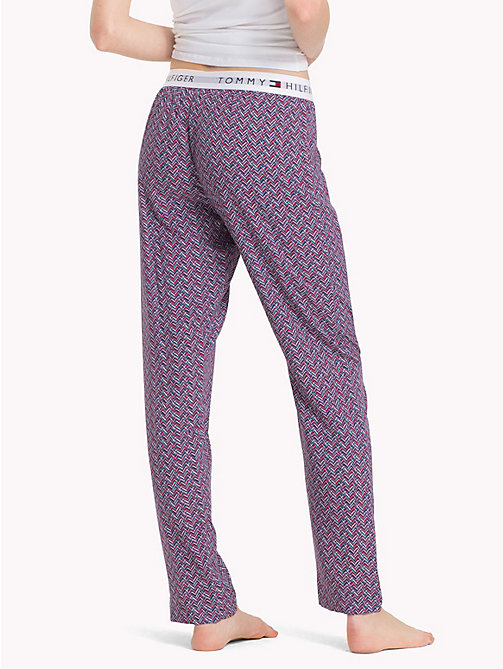 TOMMY HILFIGER Woven Chevron Pants - NAVY BLAZER - TOMMY HILFIGER Bottoms - detail image 1