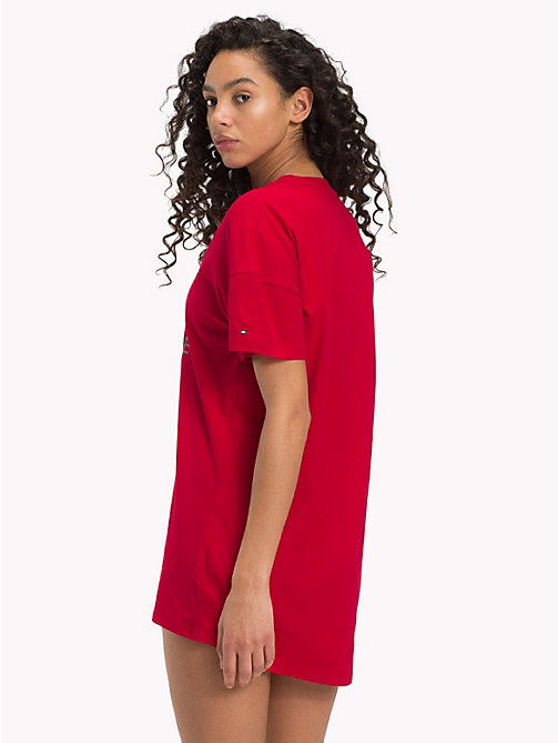 TOMMY HILFIGER Good Morning Sunshine Dress - CHILI PEPPER - TOMMY HILFIGER Night Dresses & Bathrobes - detail image 1