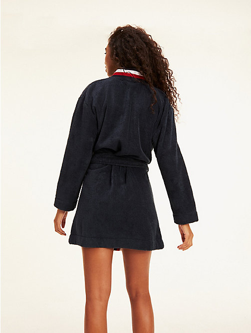TOMMY HILFIGER Signature Bathrobe - NAVY BLAZER - TOMMY HILFIGER Night Dresses & Bathrobes - detail image 1
