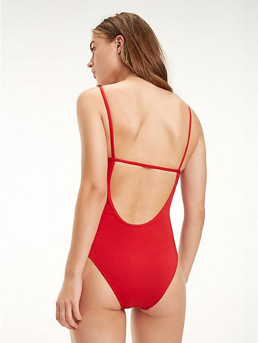 ... TOMMY HILFIGER Badeanzug mit tiefem Rückenausschnitt - TANGO RED -  TOMMY HILFIGER Badeanzüge - main image f0cae0725c