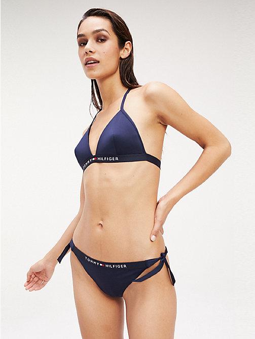 c11169847f9c3a blue wiązany z boku dół od bikini dla kobiety - tommy hilfiger