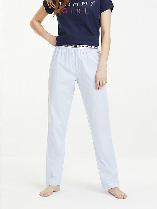 17fca49319a2a2 blue jogginghose mit tape-taillenbund für damen - tommy hilfiger