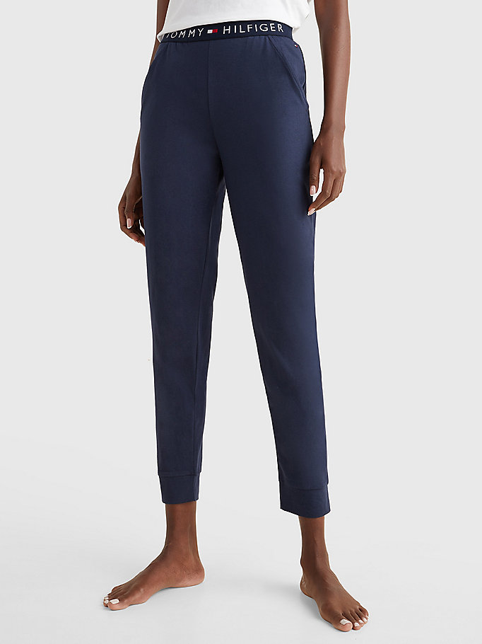 blue cuffed pant for women tommy hilfiger