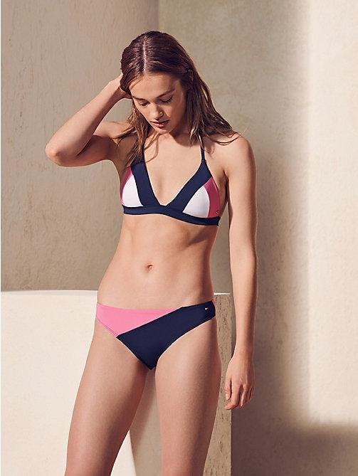 a21e4b6b09 haut de bikini colour-block dos nu pink pour femmes tommy hilfiger