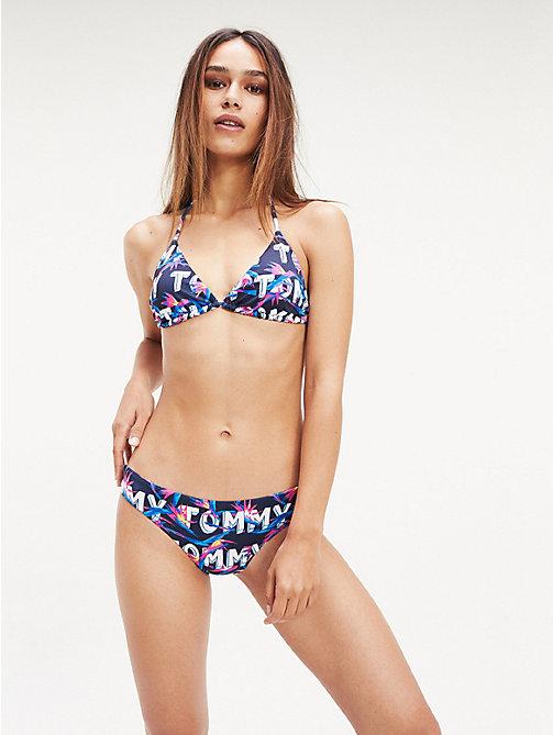a2ccf80561fb9c blue dół od bikini z tropikalnym motywem i nadrukiem z logo dla kobiety -  tommy hilfiger