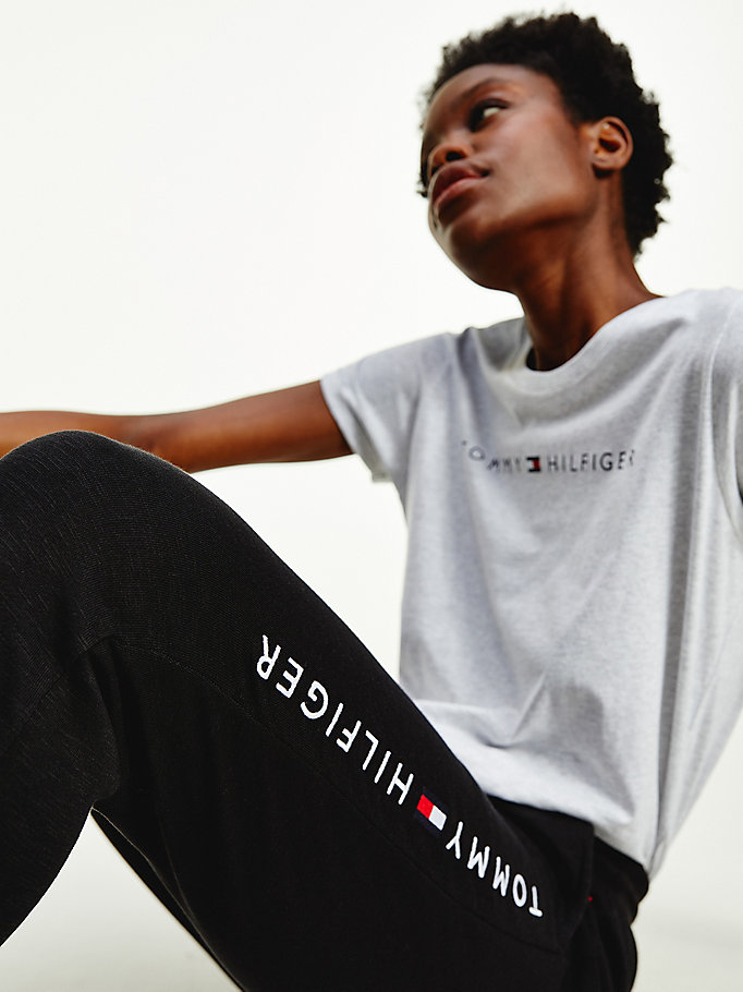 black logo joggers for women tommy hilfiger