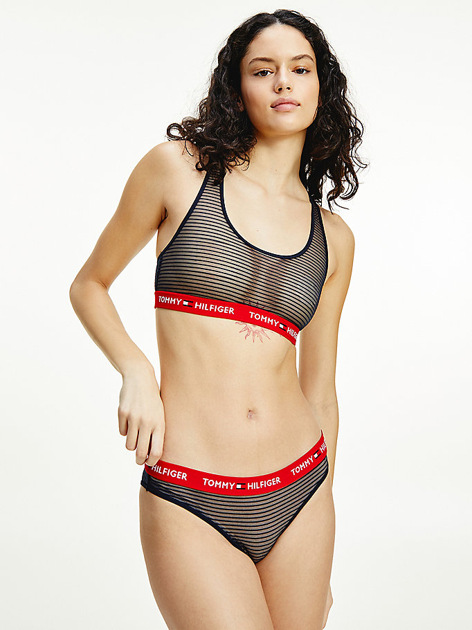 blue stripe mesh briefs for women tommy hilfiger