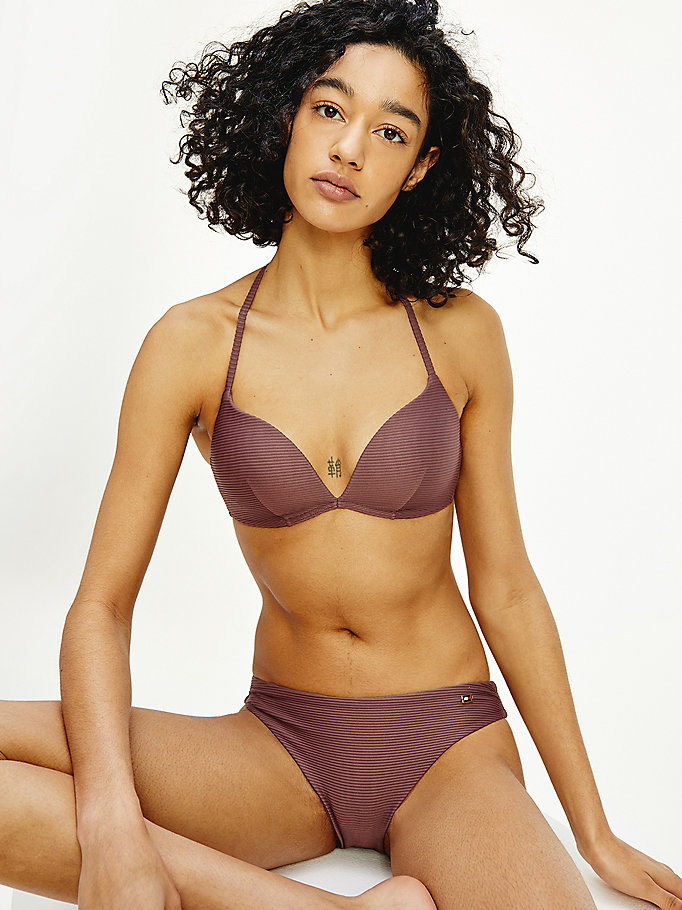 purple push-up bikini bra for women tommy hilfiger