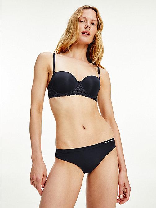 Tommy Hilfiger Classique Femme Sous-vêtements String-Noir Toutes Tailles