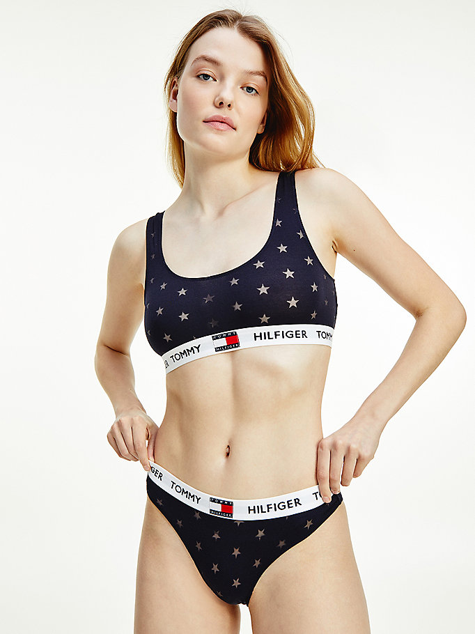 blue star burnout bralette for women tommy hilfiger