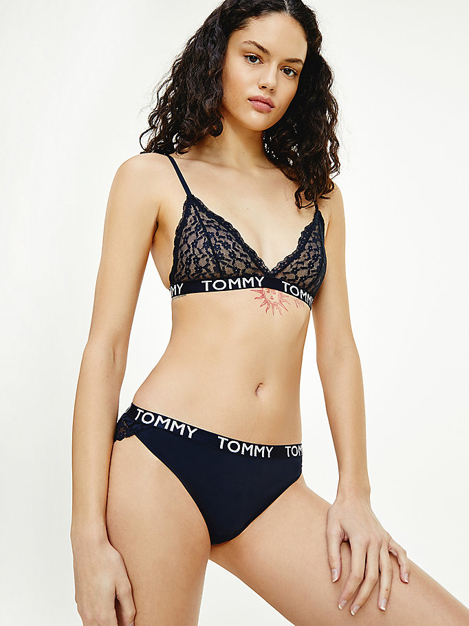 blue floral lace briefs for women tommy hilfiger