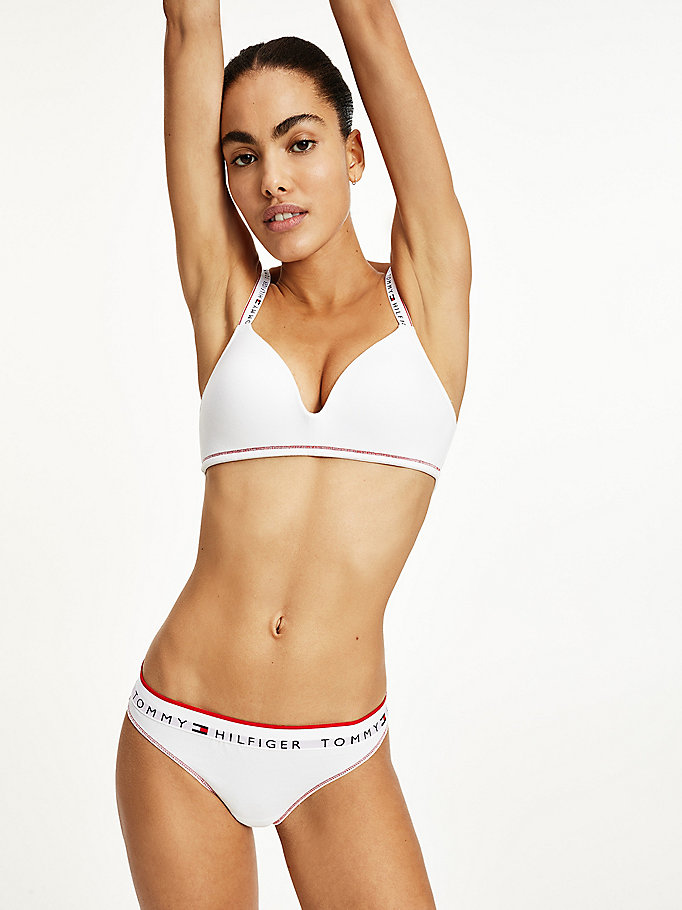 white repeat logo waistband thong for women tommy hilfiger