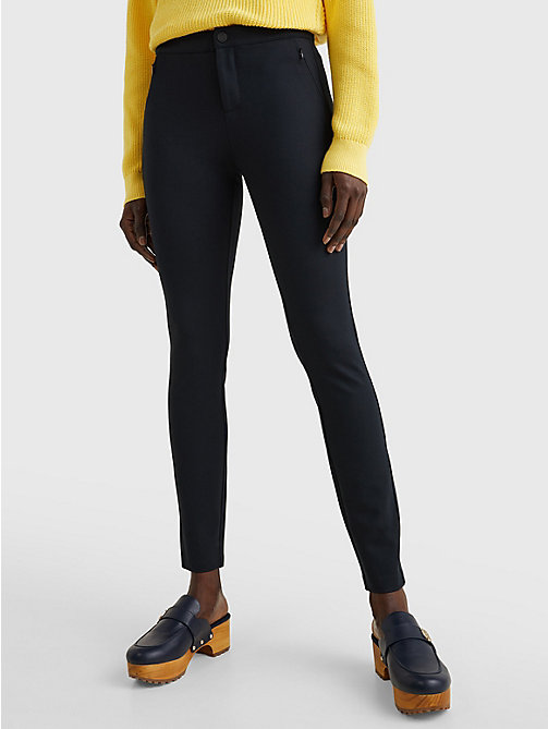 TOMMY HILFIGER Heritage Skinny Fit Trousers - MASTERS BLACK - TOMMY HILFIGER Trousers - main image