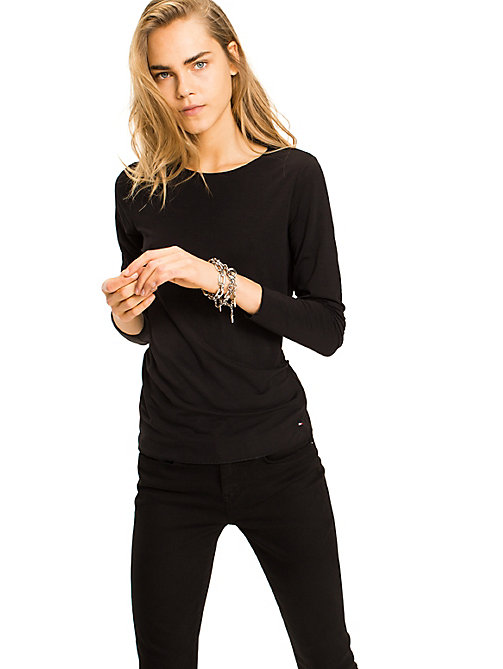 TOMMY HILFIGER Long Sleeve T-Shirt - MASTERS BLACK - TOMMY HILFIGER Basics - main image