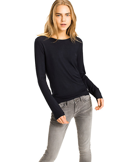 TOMMY HILFIGER Long Sleeve T-Shirt - NIGHT SKY - TOMMY HILFIGER Basics - main image