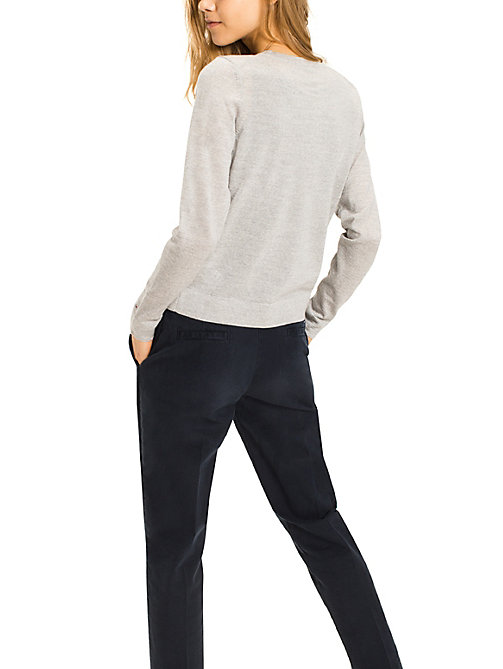 TOMMY HILFIGER Cardigan aus feiner Wolle - LIGHT GREY HTR - TOMMY HILFIGER Pullover & Strickjacken - main image 1