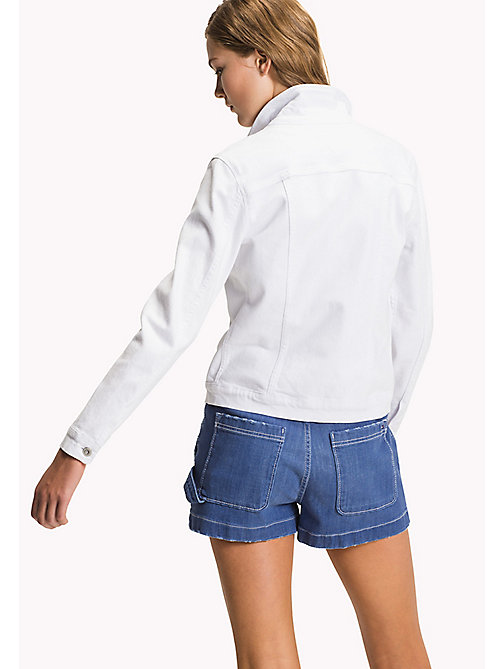 TOMMY HILFIGER Denim Jacket - CLASSIC WHITE - TOMMY HILFIGER Women - detail image 1