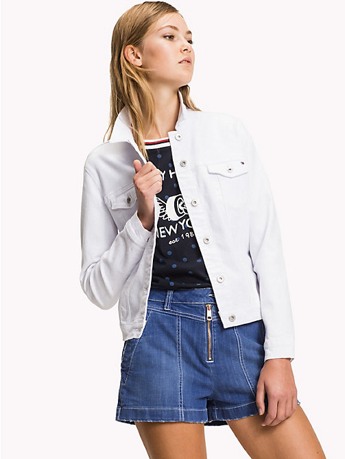 TOMMY HILFIGER Denim Jacket - CLASSIC WHITE - TOMMY HILFIGER Women - main image