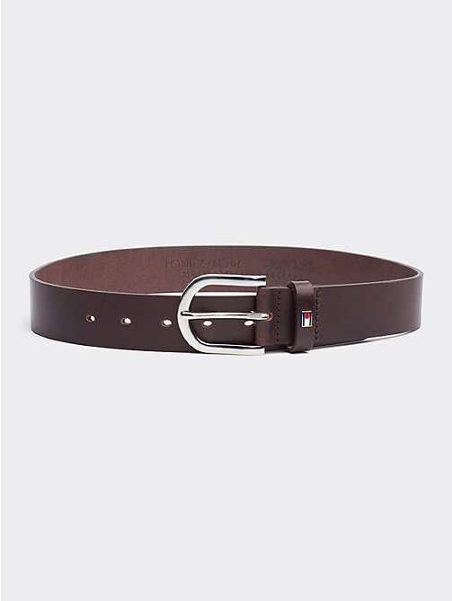 TOMMY HILFIGER Danny Leather Belt - DARK BROWN - TOMMY HILFIGER Belts - main image