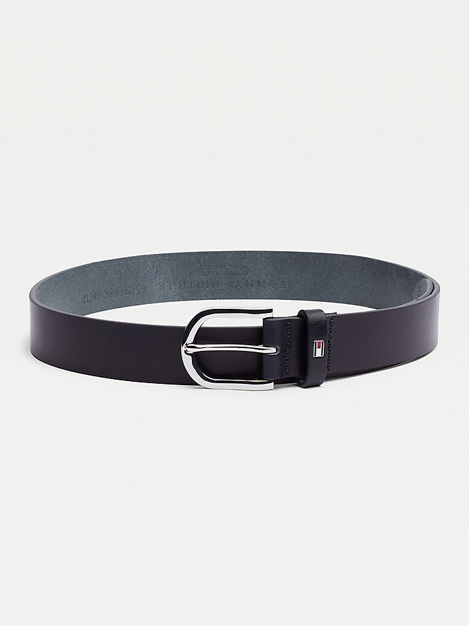 blue danny leather belt for women tommy hilfiger