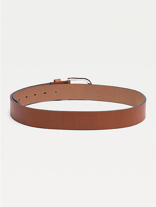 TOMMY HILFIGER Danny Leather Belt - COGNAC - TOMMY HILFIGER Belts - detail image 1