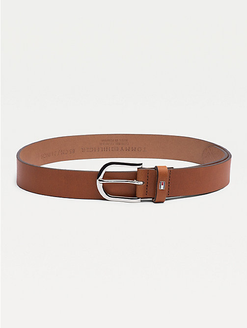 TOMMY HILFIGER Danny Leather Belt - COGNAC - TOMMY HILFIGER Belts - main image