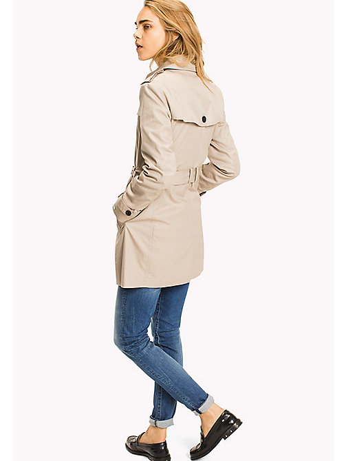 TOMMY HILFIGER Regular fit trenchcoat - MEDIUM TAUPE - TOMMY HILFIGER Jassen & Jacks - detail image 1