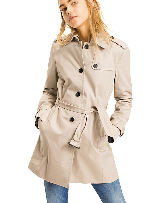 TOMMY HILFIGER Regular Fit Trench Coat - MEDIUM TAUPE - TOMMY HILFIGER Basics - main image