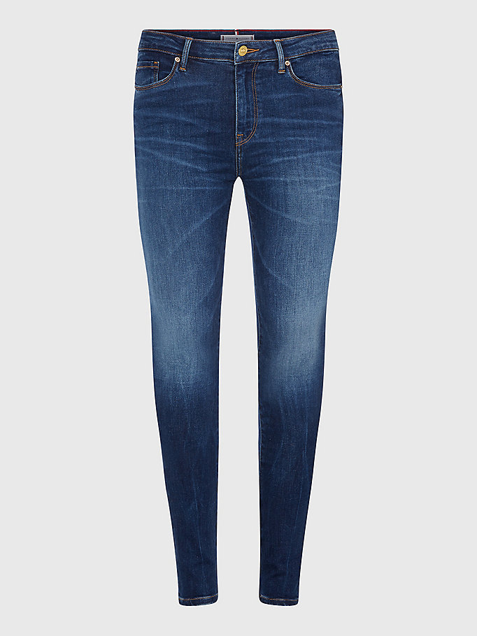 denim como heritage skinny fit faded jeans for women tommy hilfiger