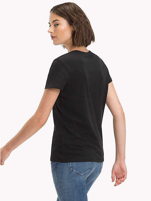 TOMMY HILFIGER Brushed Cotton T-Shirt - BLACK BEAUTY -  Camisetas - imagen detallada 1