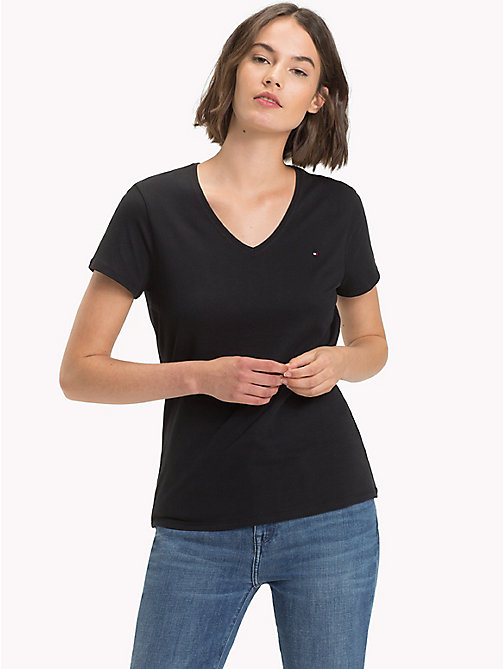 TOMMY HILFIGER V-Neck T-Shirt - BLACK BEAUTY - TOMMY HILFIGER T-Shirts - main image