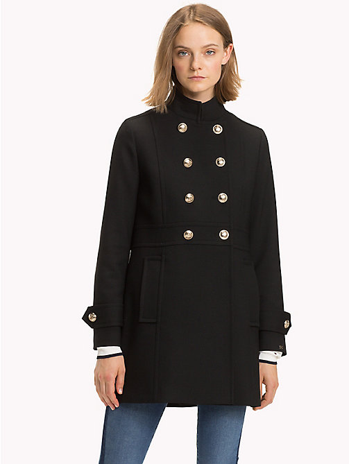 TOMMY HILFIGER Long Buttoned Trench Coat - BLACK BEAUTY - TOMMY HILFIGER Coats - main image