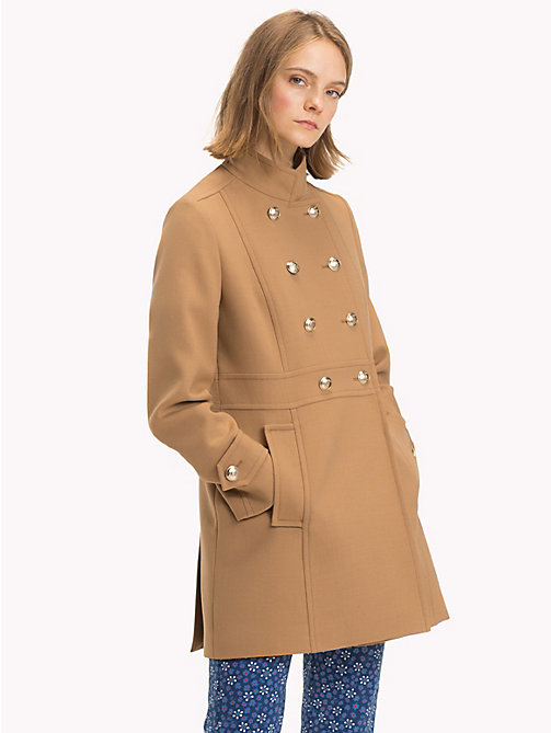 TOMMY HILFIGER Long Buttoned Trench Coat - CLASSIC CAMEL - TOMMY HILFIGER Sale Women - main image