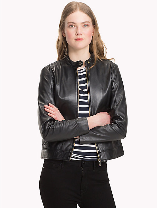 TOMMY HILFIGER Leather Jacket - MASTERS BLACK - TOMMY HILFIGER Clothing - main image