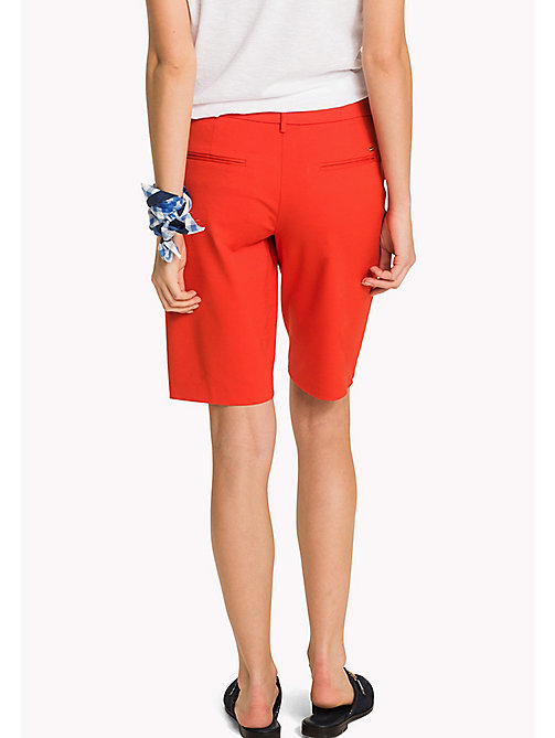 TOMMY HILFIGER Smart Slim Fit Bermuda Shorts - FLAME SCARLET - TOMMY HILFIGER Clothing - detail image 1