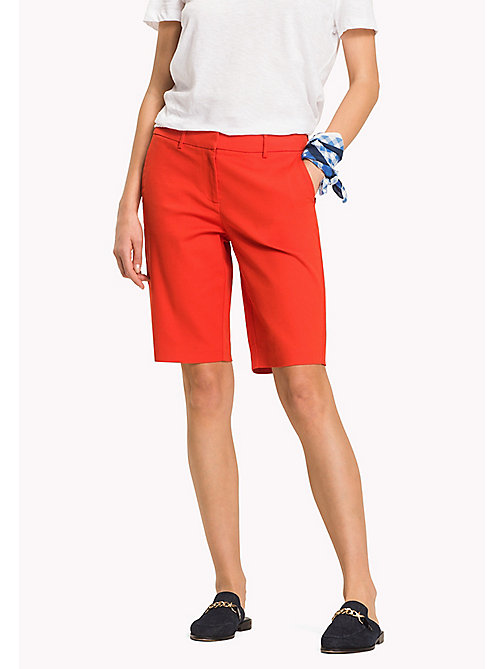 TOMMY HILFIGER Smart Slim Fit Bermuda Shorts - FLAME SCARLET - TOMMY HILFIGER Clothing - main image