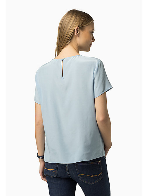 TOMMY HILFIGER Printed Viscose Top - CHAMBRAY BLUE - TOMMY HILFIGER Women - detail image 1