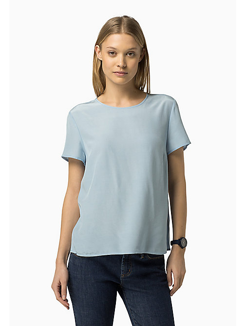 TOMMY HILFIGER Printed Viscose Top - CHAMBRAY BLUE - TOMMY HILFIGER Women - main image