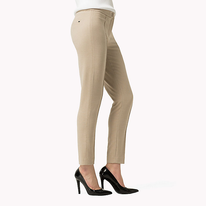 TOMMY HILFIGER Textured Ankle Trousers - SMOKED PEARL / WARM OLIVE - TOMMY HILFIGER Clothing - detail image 2