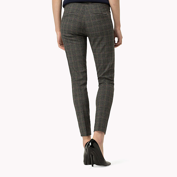 TOMMY HILFIGER Textured Ankle Trousers - FEATHER GREY / SNOW WHITE - TOMMY HILFIGER Clothing - detail image 1