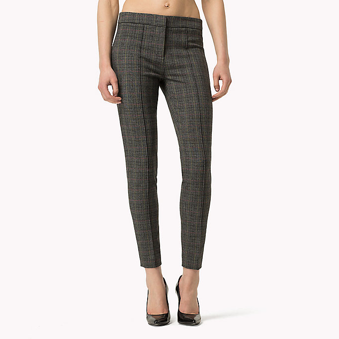 TOMMY HILFIGER Textured Ankle Trousers - FEATHER GREY / SNOW WHITE - TOMMY HILFIGER Clothing - detail image 3