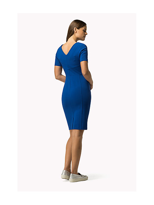 TOMMY HILFIGER Tailliertes Punto-Milano-Kleid - OLYMPIAN BLUE -  Damen - main image 1