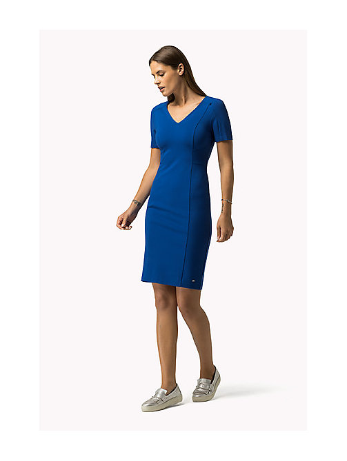 TOMMY HILFIGER Tailliertes Punto-Milano-Kleid - OLYMPIAN BLUE -  Damen - main image