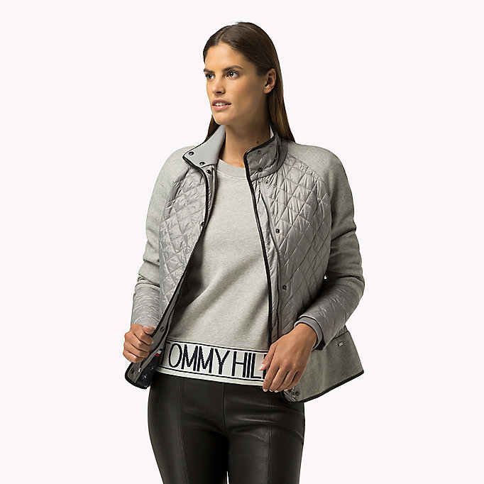 TOMMY HILFIGER Quilted Jacket - PEACOAT - TOMMY HILFIGER Clothing - main image