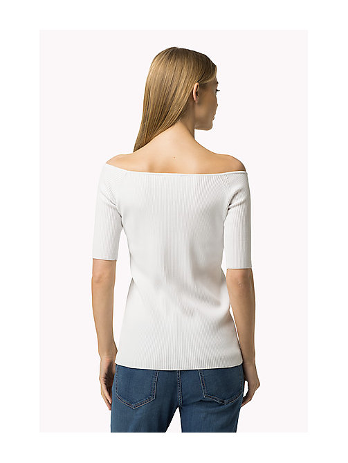 TOMMY HILFIGER Off-Shoulder Jumper - CLASSIC WHITE - TOMMY HILFIGER Women - detail image 1