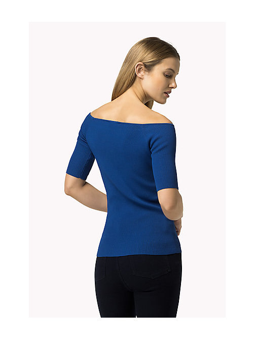 TOMMY HILFIGER Off-Shoulder Jumper - OLYMPIAN BLUE - TOMMY HILFIGER Women - detail image 1
